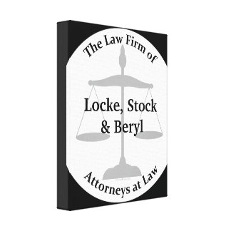 Law Firm Puns Canvas Print