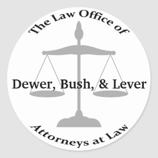 Law Firm Puns Classic Round Sticker