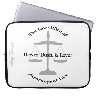 Law Firm Puns Laptop Sleeve