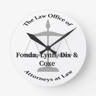 Law Firm Puns Round Clock