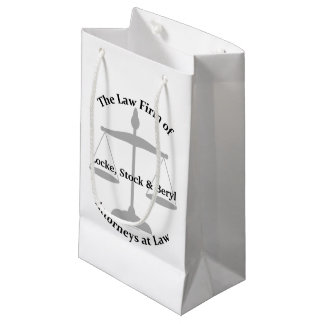 Law Firm Puns Small Gift Bag