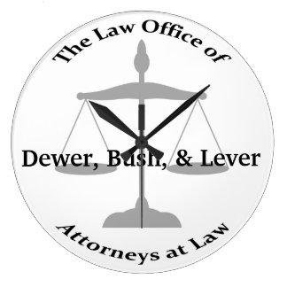 Law Firm Puns Wall Clock