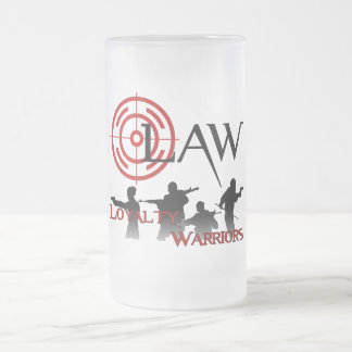 LAW Frosted Beer glass Frosted Glass Beer Mug