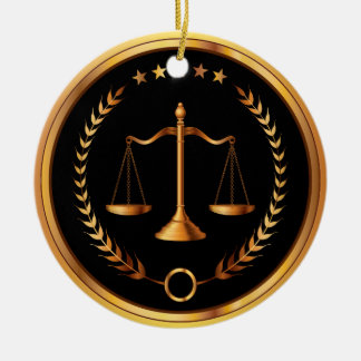 Law, Lawyer, Scales of Justice - SRF Round Ceramic Ornament