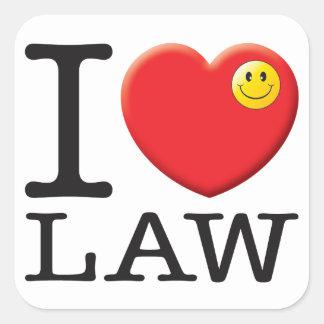 Law Love Square Sticker