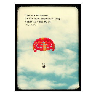 Law of Action Haiku Postcard