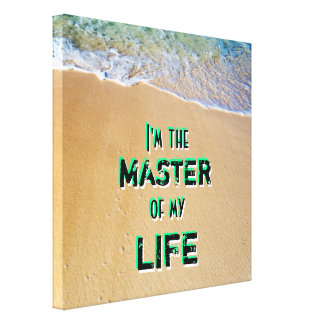 Law of Attraction Beach Canvas Print