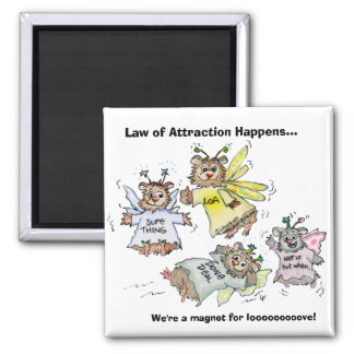 Law of Attraction Cartoon Magnet