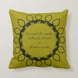 Law of Attraction - James Allen Quotes Throw Pillows