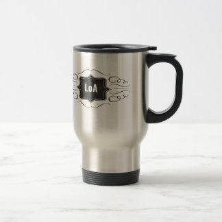 Law of Attraction logo 15 Oz Stainless Steel Travel Mug