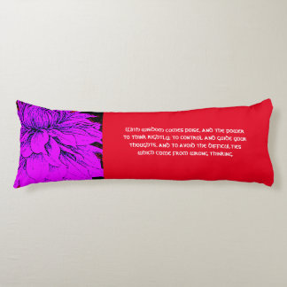 Law of Attraction Quote Dahlia Body Pillow