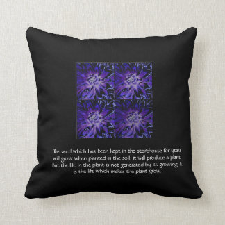 Law of Attraction Quote - Dahlia Throw Pillows