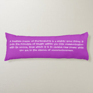 Law of Attraction Quote - Good Sleep Night Body Pillow