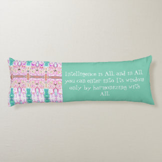 Law of Attraction Quote Wisdom Body Pillow