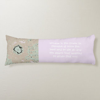 Law of Attraction Quote with Abstract Sunflower Body Pillow