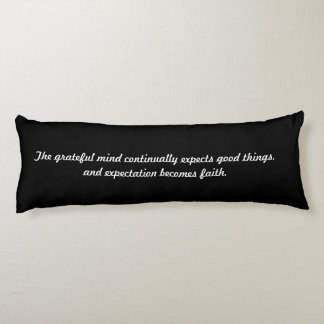 Law of Attraction Quote - Yellow YinYang Body Pillow