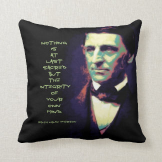 Law of Attraction Ralph Waldo Emerson Quote Throw Pillow