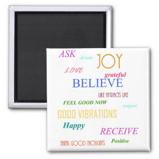"""""""LAW OF ATTRACTION"""" SQUARE MAGNET"""