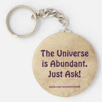 Law of Attraction Success Motivational Keychain