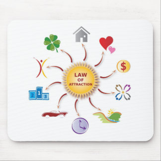 Law of Attraction Sun Illustration Multicolored Mouse Pad