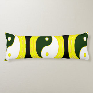 Law of Attraction - Yellow Yin Yang Body Pillow
