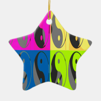 Law of Attraction - Yin Yang Ceramic Star Ornament