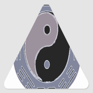 Law of Attraction Yin Yang Triangle Sticker