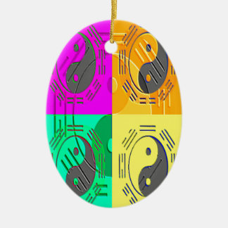 Law of Attraction - Ying Yang Ceramic Oval Ornament