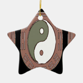 Law of Attraction - Ying Yang Ceramic Star Ornament