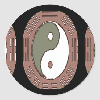 Law of Attraction - Ying Yang Round Sticker