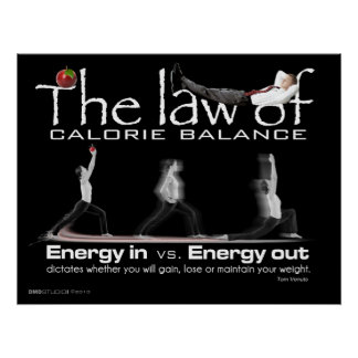 Law of Calorie Balance Poster