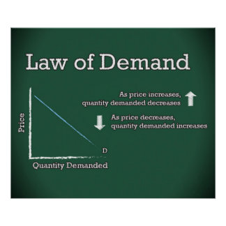 Law of Demand *UPDATED* Poster