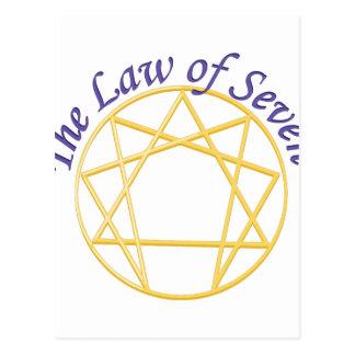 Law of Seven Postcard