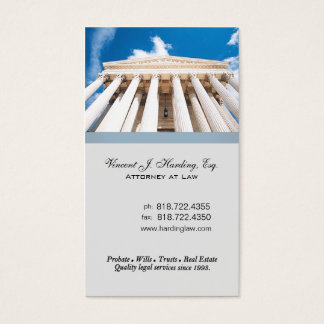 Law Offices Attorney Lawyer Pillars Supreme Court Business Card