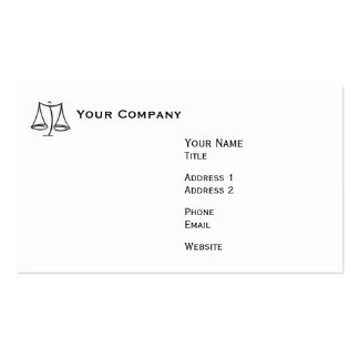Law - Scale - Business Business Card Template
