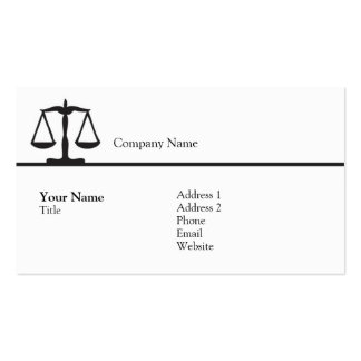 Law - Scale - Business Pack Of Standard Business Cards