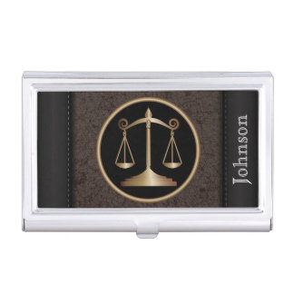 Law| Scales of Justice  | Personalize Business Card Cases