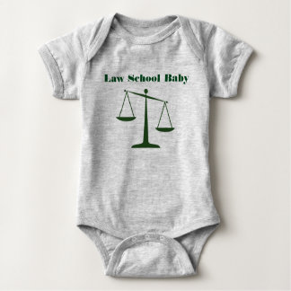 Law School Baby Romper (Green Ink)