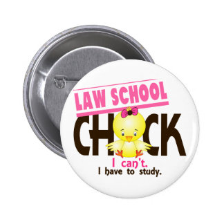 Law School Chick 1 2 Inch Round Button