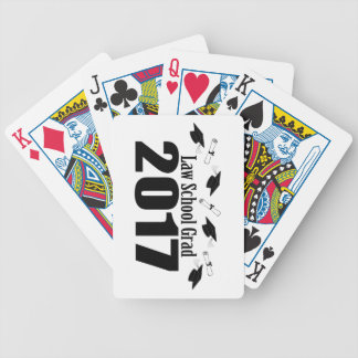 Law School Grad 2017 Caps And Diplomas (Black) Bicycle Playing Cards
