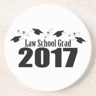 Law School Grad 2017 Caps And Diplomas (Black) Coaster
