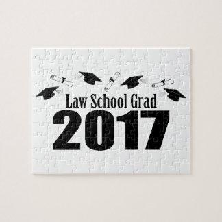 Law School Grad 2017 Caps And Diplomas (Black) Jigsaw Puzzle