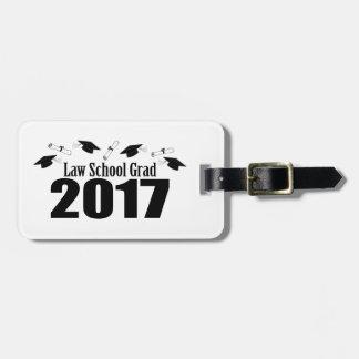 Law School Grad 2017 Caps And Diplomas (Black) Luggage Tag
