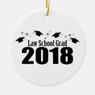 Law School Grad 2018 Caps And Diplomas (Black) Ceramic Ornament