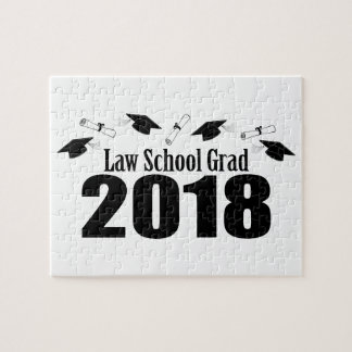Law School Grad 2018 Caps And Diplomas (Black) Jigsaw Puzzle