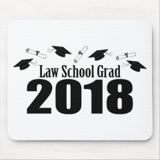 Law School Grad 2018 Caps And Diplomas (Black) Mouse Pad