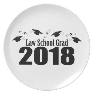 Law School Grad 2018 Caps And Diplomas (Black) Plate