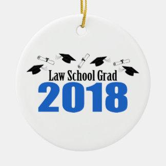Law School Grad 2018 Caps And Diplomas (Blue) Ceramic Ornament