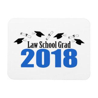 Law School Grad 2018 Caps And Diplomas (Blue) Magnet