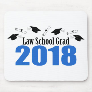 Law School Grad 2018 Caps And Diplomas (Blue) Mouse Pad